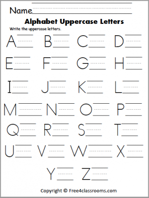 421 Uppercase Letter Writing