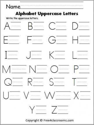 421 Uppercase Letter Writing