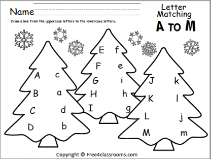 440 Christmas Letter matching A to M