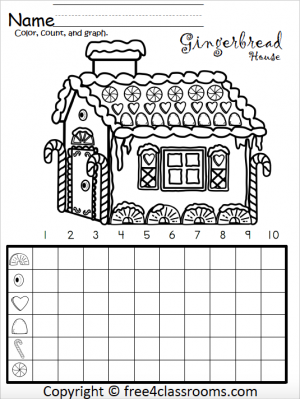 Free Kindergarten Math Gingerbread House