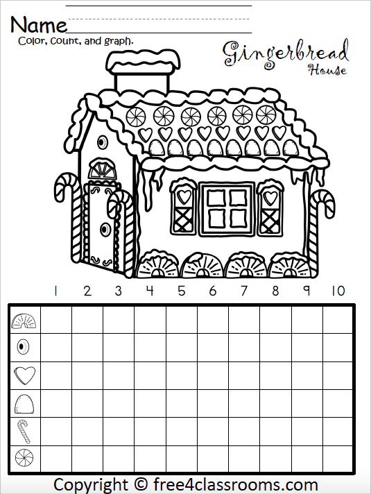Free Kindergarten Math Gingerbread House