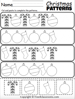 459 Christmas Patterns Cut Paste