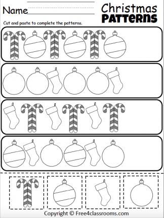 459 Christmas Patterns Cut Paste