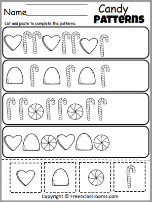 460 Candy Patterns Worksheet