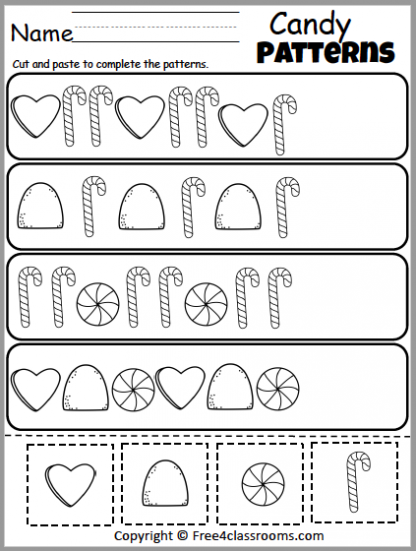 460 Candy Patterns Worksheet