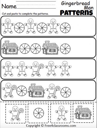 461 Gingerbread Math Patterns