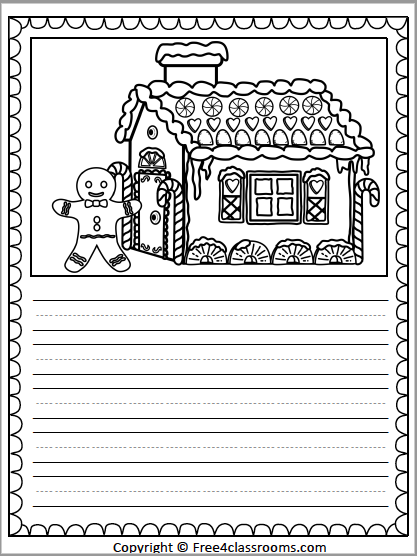 463 Gingerbread Writing Sheet