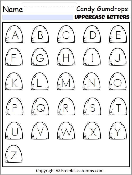 466 Uppercase Alphabet Candy