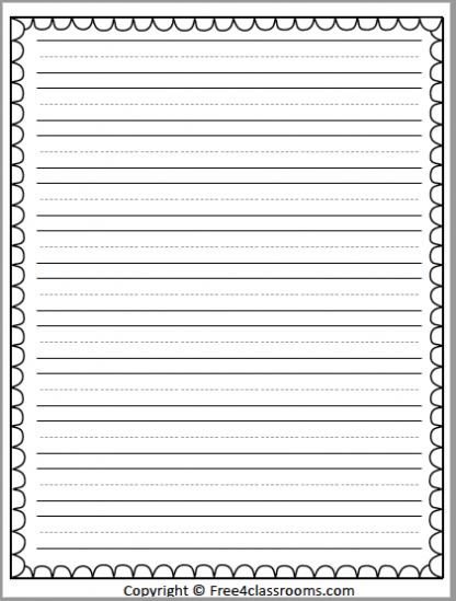 476 Writing Paper Template Basic
