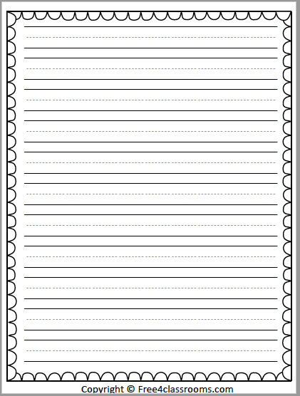 Free Printable Writing Paper - Stationary Primary Lines - Free4Classrooms