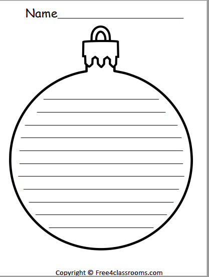 482 Ornament Writing Template