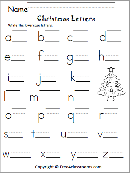 525 Lowercase Letter Writing Christmas