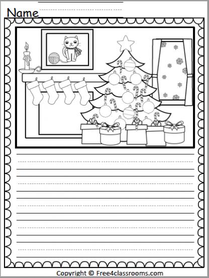 528 Christmas Writing Activity