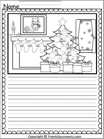 528 Christmas Writing Activity