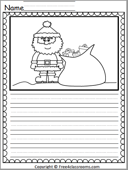529 Santa Writing Activity