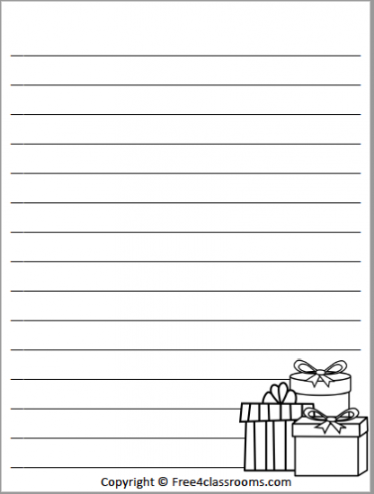 532 Christmas Lined Paper