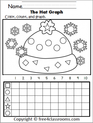 538 Winter Hat Shapes Graph