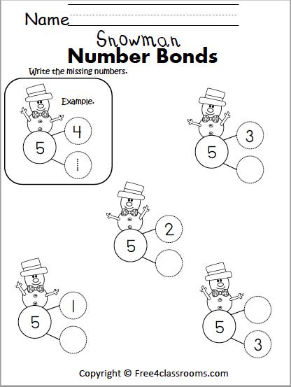 539 snowman number bonds