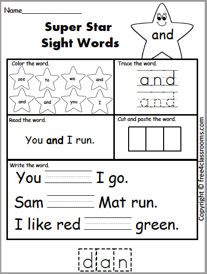 582 Super Sight Word and