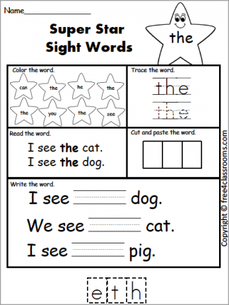 583 Sight Word the