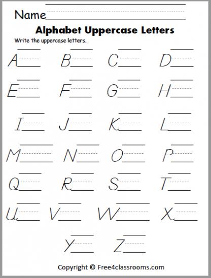 424 dnealian uppercase writing