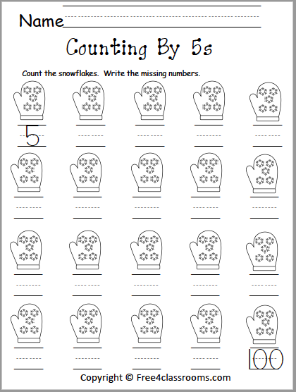 427 Counting by 5s worksheet