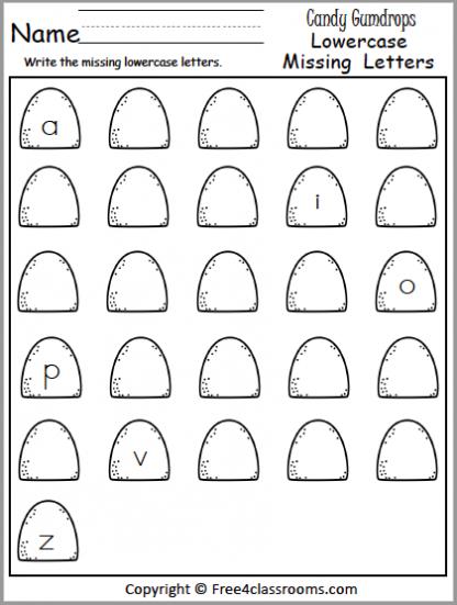 470 lower missing letters gumdrops
