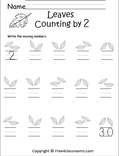 571 Counting By 2s Leaves
