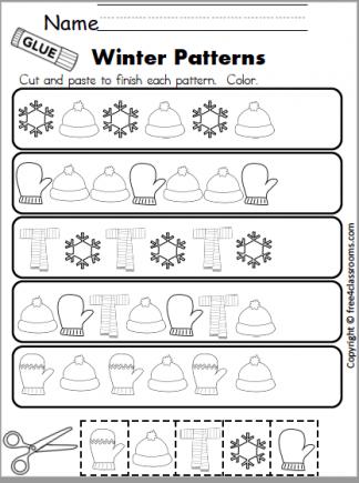 587 winter pattern math page