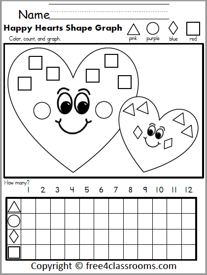 595 Valentine Shapes Graph