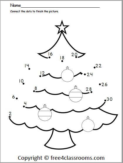 601 Count by 2s dot to dot Christmas
