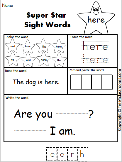 602 Star Sight Words here