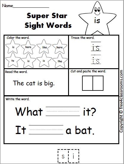 603 Star Sight Word is