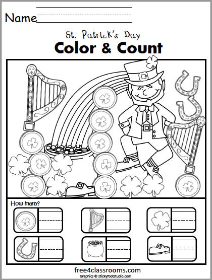 610 Count Color St Patricks