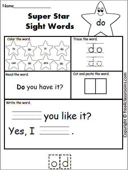 Free Sight Word Worksheet Do Free4classrooms - 45+ Words Worksheets Kindergarten Sight Words Pdf Free Pictures