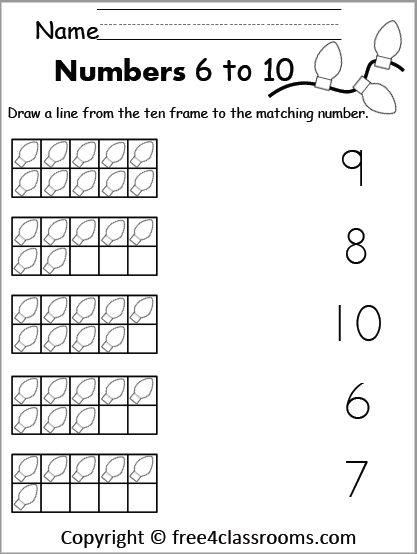 free Christmas number matching to 10