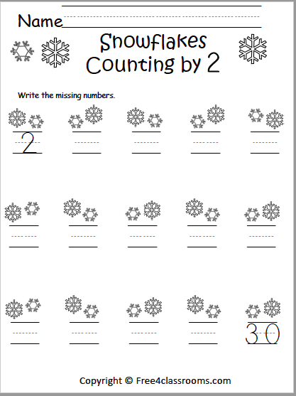 569 Count Snowflakes by 2s