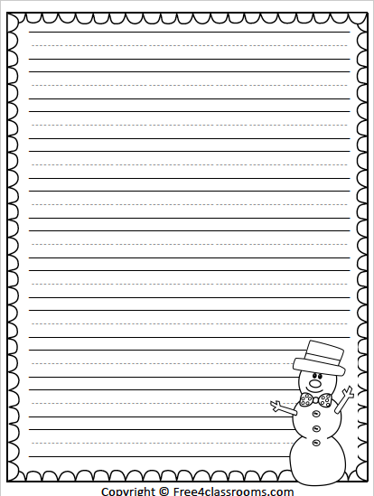 Free Winter Writing Template