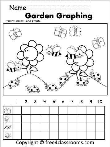 Free Garden Math Graphing Worksheets Free4Classrooms
