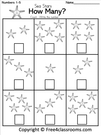 Free Kindergarten Worksheet Number Counting Free4Classrooms