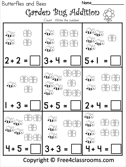 Free Picture Addition Worksheets Free4Classrooms
