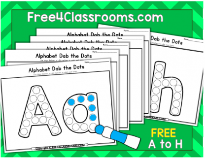 Free Alphabet Dot Marker Worksheets Free4classrooms