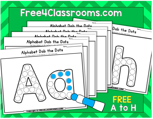 Free Alphabet Dot Marker Worksheets Free4classrooms