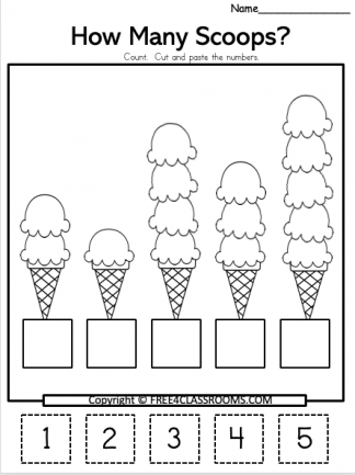 Free Summer Math Worksheets How Many Free4Classrooms