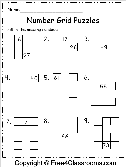 Number Grid Puzzles 3