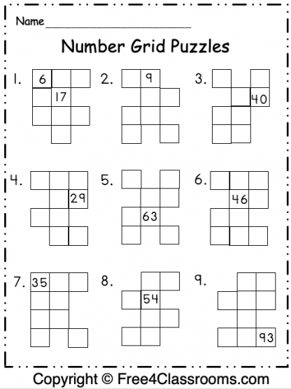Number Grid Puzzles 6