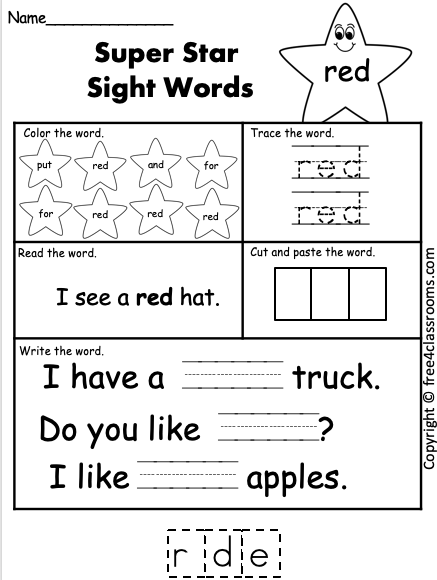 free color word practice free4classrooms.com