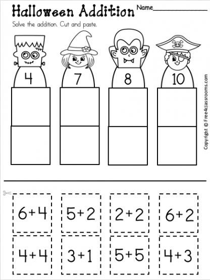 Free Addition Up to 10 Worksheet