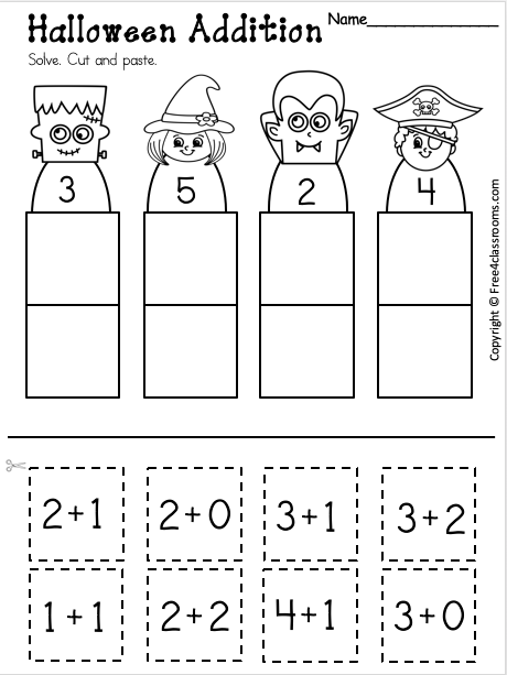 Free Addition Worksheet Up to 5