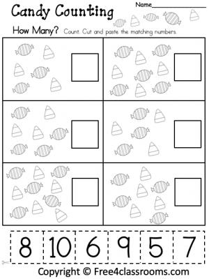 Free Kindergarten Math Worksheet
